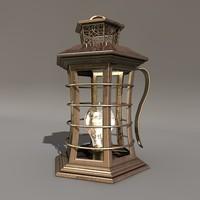 gold lantern 3d model