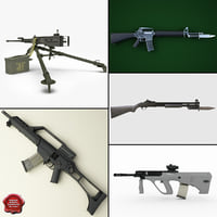machine guns 6 3d model