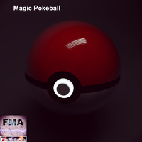 pokeball magic 3d model