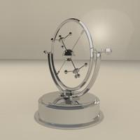 magnetic pendulum 3d max