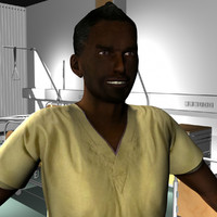 male medical staff 3d ma