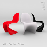 3d vitra panton chair model
