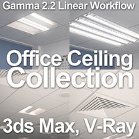 3d office ceiling 2012 lamps