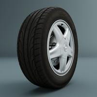 wheel opel astra 3d max