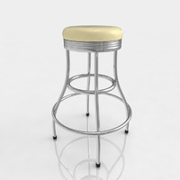 3d bar stool leather model