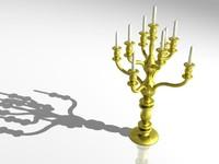 3d model candle candelabra