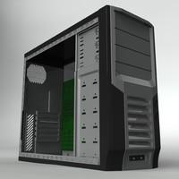 3d obj computer case