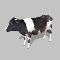 cow uv 3d model