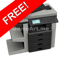 free office printer print 3d model