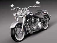 harley softail deluxe 2012 3d model