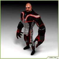 biker man 3d model