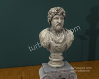 3D Model Bust of Marcus Aurelius Marc Aurel for Cinema 4D High Quality Print Ready