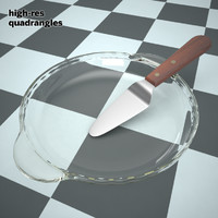3d pie dish knife plate model