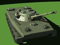 3d soviet amphibious tank