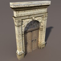 maya portal door modelled