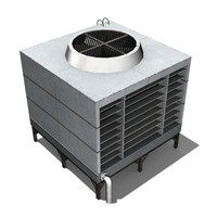 3d model rooftop air conditioner