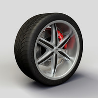 Wheel Baccarat - Outrage rims and tyre