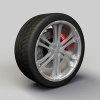 Wheel Alloy Ion 114 rims and tire