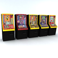 slot machines 3d model