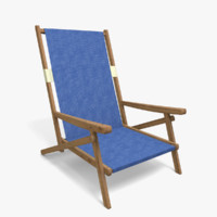 beach chair 3d 3ds