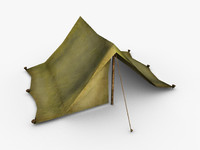 3d tent uv mapped