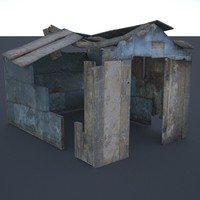 3ds max ruined shed