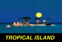 c4d tropical island