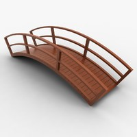 3d model wooden bridge wood