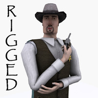 Sheriff Lowpoly Rigged