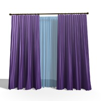 modern curtain 3d model