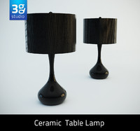 3d model ceramic modern table lamp