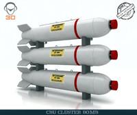 cbu cluster bomb 3d model