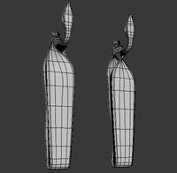 curtain ties 3d model