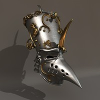 3d model gothic knight helmet