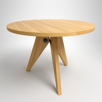 jean table wood 3d model
