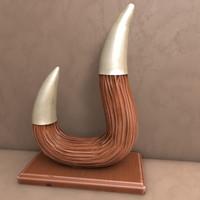 c4d horn statue