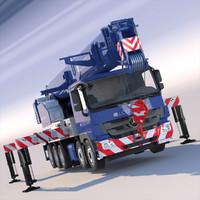 mercedes mobile crane hk70 3d max