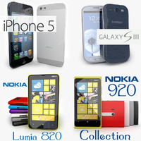 3d smartphone iphone 5 samsung model