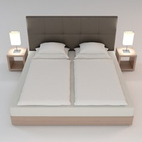 nightstand scene bed 3d max