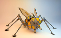 bug robotic 3d model