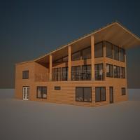3d model house interior exterior