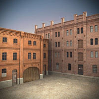 old industrial building 3d obj