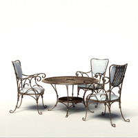 forged furniture 3d max