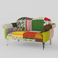 maya sofa patchwork