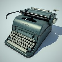 olympia typewriter 3d max