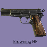 Browning High Power (HP) 9mm 1942-1943