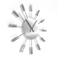analog decorative wall clock 3d 3ds