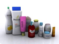 cosmetic bottles 3d max