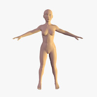 3d model of female character