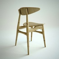 3d oak dining chair carl model